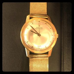 18k real gold zenith automatic watch